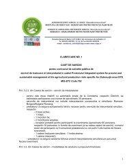 CLARIFICARE NR. 1 CAIET DE SARCINI pentru contractul ... - ICDPP