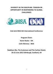 June 2012 - the British International Studies Association