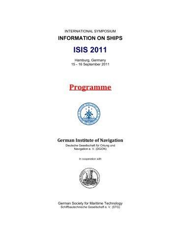 information on ships isis 2011 - Schiffbautechnische Gesellschaft eV
