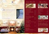 Festive Menu 2012 - Lake District Hotels