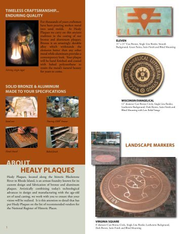 ABOUT HEALY PLAQUES