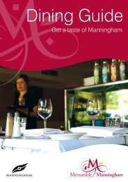Dining Guide 2010 (PDF, 2.07MB, New Window - Manningham City ...