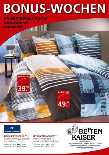 BONUS-WOCHEN - Betten-Kaiser
