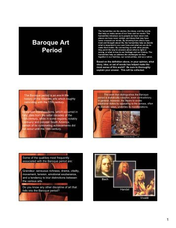 Baroque Art Period