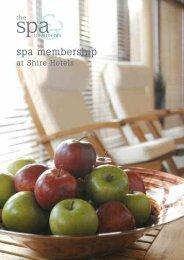 Spa membership brochure - Shire Hotels