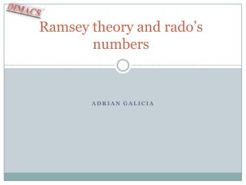 Ramsey theory and rado's numbers