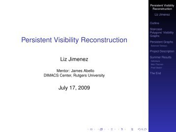 Persistent Visibility Reconstruction