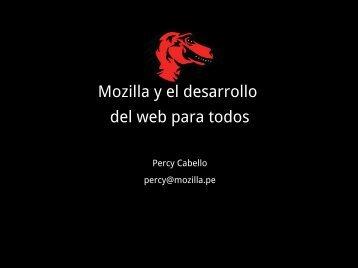 Mozilla y el desarrollo del web para todos - Inicio
