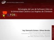 Estrategias del uso de Software Libre en la Universidad Católica ...