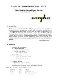 Grupo de Investigación Linux-IDES Taller De Configuración de Samba