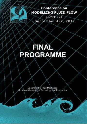 Conference on MODELLING FLUID FLOW September 4 ... - CMFF'12