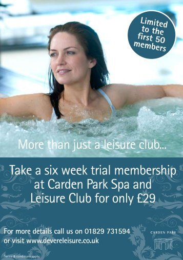 For more details call us on 01829 731594 or visit www ...