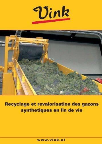 Recyclage et revalorisation des gazons synthetiques en fin de vie