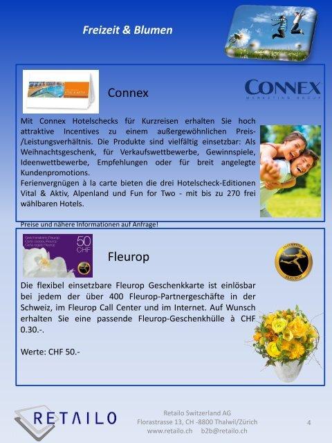 Freizeit & Blumen - Retailo Schweiz