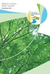 Balance suchen - Natur buchen - Nationalpark Eifel