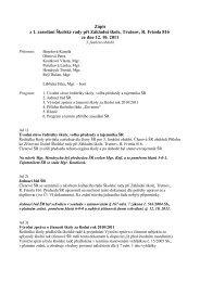 zápis z prvního jednání školské rady ve třetím - Základní škola ...