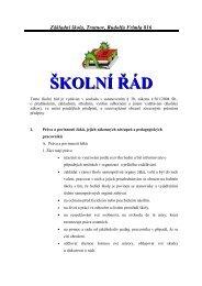 Základní škola, Trutnov, Rudolfa Frimla 816 ŠKOLNÍ ŘÁD