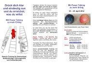Mit Power Talking zu mehr Erfolg 23. - RAS Training und Beratung