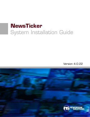 NewsTicker System Installation Guide