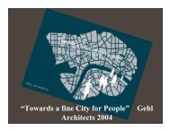 """Towards a fine City for People"" Architects 2004 Gehl"