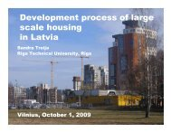 Development process of large scale housing in Latvia