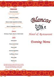 Vegetarian - Blanco's Hotel and Restaurant