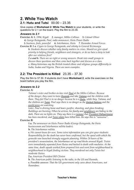 Hutu And Tutsi Worksheet Answers Worksheet List