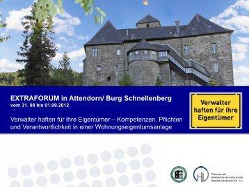EXTRAFORUM in Attendorn/ Burg Schnellenberg