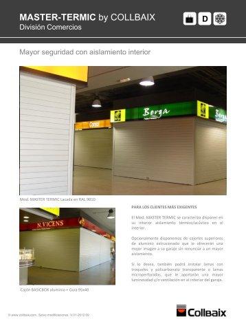 Información técnica en formato PDF para el producto Collbaix ...