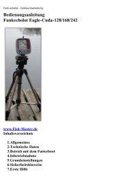 Bedienungsanleitung Funkecholot Eagle-Cuda-128/168/242