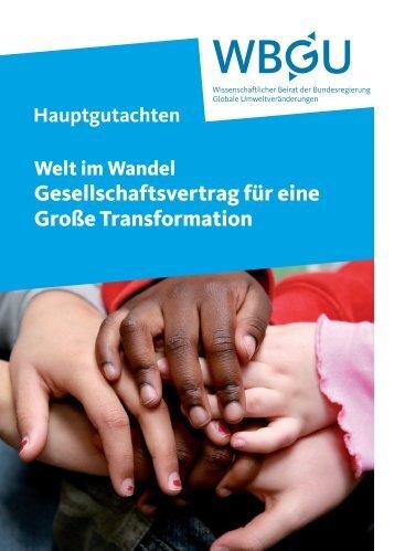 Gesellschaftsvertrag für eine Große Transformation - WBGU