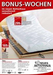 Im neuen Bettenhaus sensationell reduziert