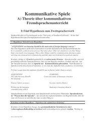 Kommunikative Spiele A) Theorie  über kommunikativen  ...