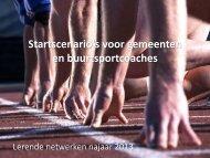Startscenario's voor gemeenten en buurtsportcoaches