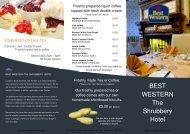 Download Bar Snack Menu - Best Western Shrubbery Hotel