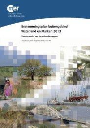 Bestemmingsplan buitengebied Waterland en Marken 2013
