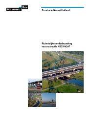 Provincie Noord-Holland Ruimtelijke onderbouwing reconstructie N235-N247