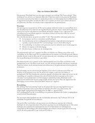 Bijlage 1 Plan van Scholen 2014-2016 - Gemeente Waterland
