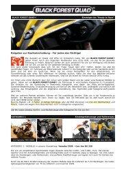 BLACK FOREST QUAD ® - ATV / Quad Kaufberatung