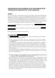 Bijlage 3 Inspraakreacties - Gemeente Waterland