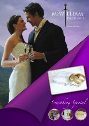 Click here for our wedding brochure - McWilliam Park Hotel Mayo