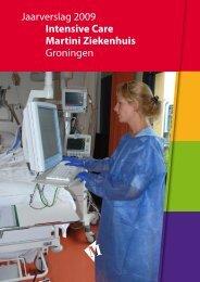 Jaarverslag 2009 Intensive Care Martini Ziekenhuis Groningen
