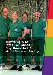 Jaarverslag Intensive Care 2012.indd - Martini Ziekenhuis