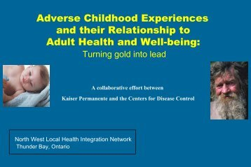 and their Relationship to Adult Health and Well-being