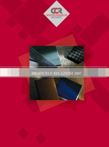 BILANCIO E RELAZIONI 2007