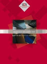Progetto di bilancio civilistico e consolidato 2009 - Gruppo ...