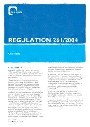 REGULATION 261 /2004 - DLA Piper