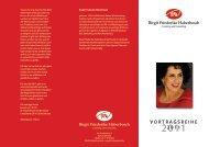 VORTRAGSREIHE 2011 - Birgit Friederike Haberbosch