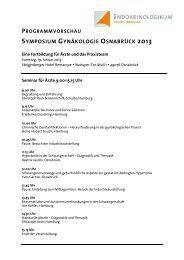 programmvorschau symposium gynäkologie ... - Endokrinologikum