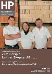 Zum Beispiel: Lohner Ziegelei AG AB SEITE 22 - VHP